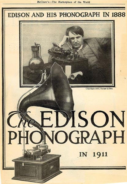 The History of the Edison Cylinder Phonograph